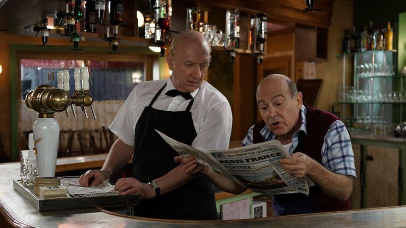 Christian Pereira et Didier Benureau dans le film Breves de comptoir