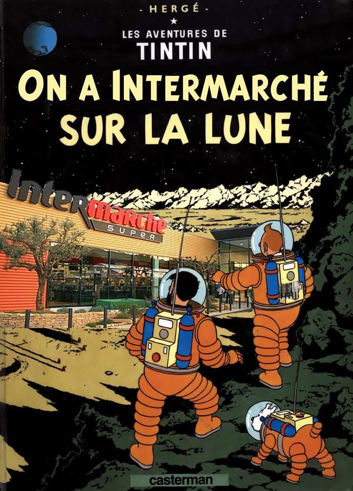 parodie des albums de Tintin